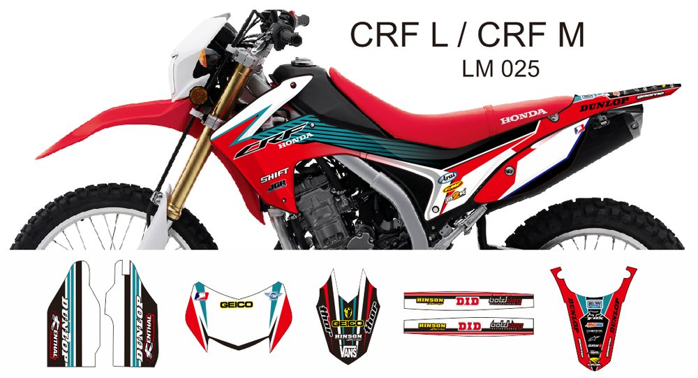 HONDA CRF L CRF M 2013-2014 GRAPHIC DECAL KIT CODE.LM 025