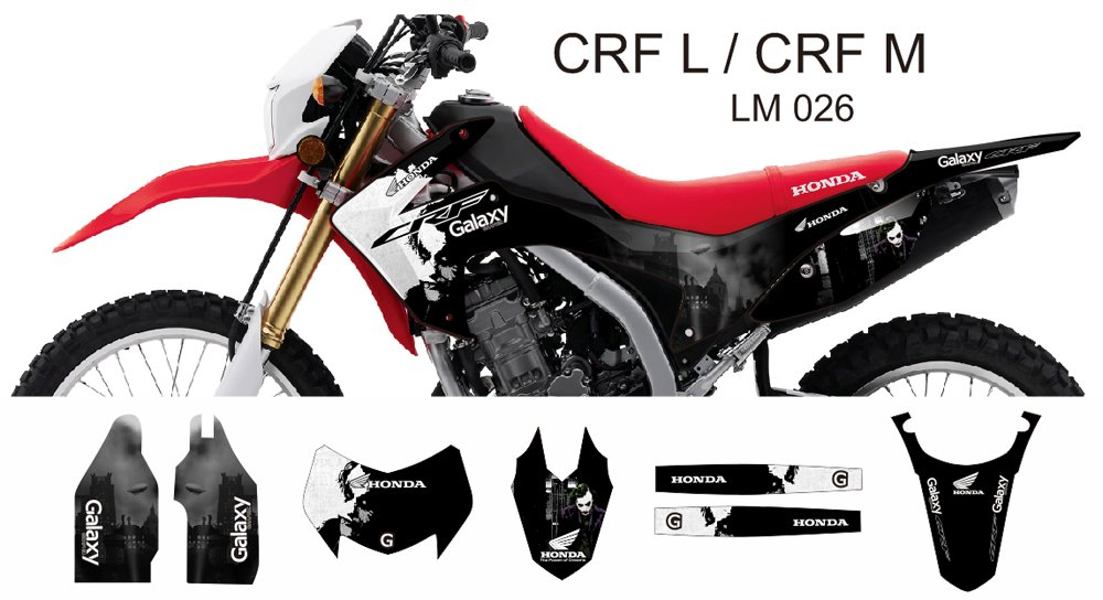 HONDA CRF L CRF M 2013-2014 GRAPHIC DECAL KIT CODE.LM 026