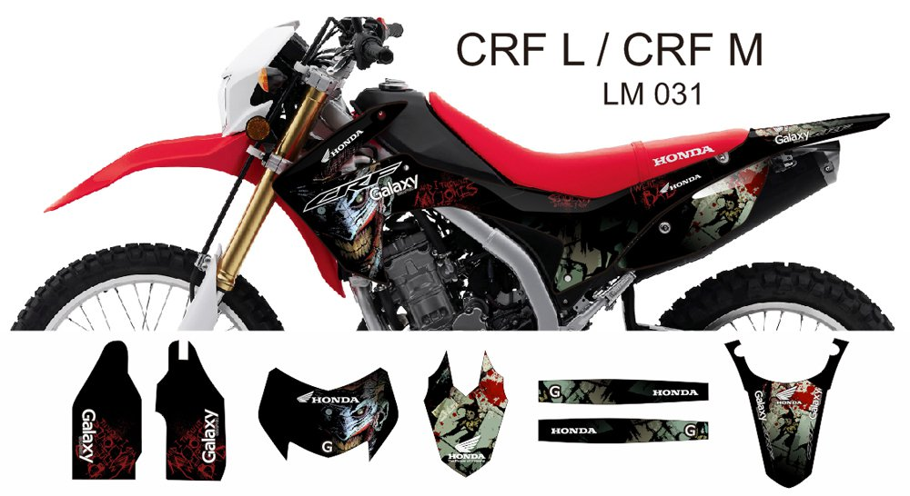HONDA CRF L CRF M 2013-2014 GRAPHIC DECAL KIT CODE.LM 031