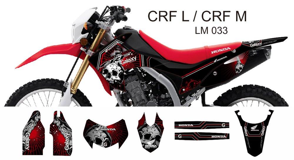 HONDA CRF L CRF M 2013-2014 GRAPHIC DECAL KIT CODE.LM 033