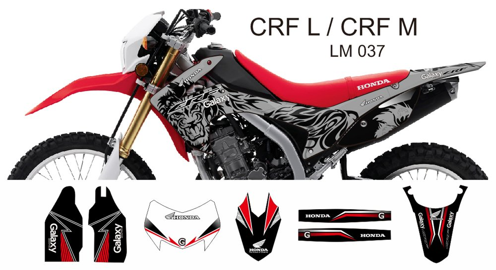HONDA CRF L CRF M 2013-2014 GRAPHIC DECAL KIT CODE.LM 037