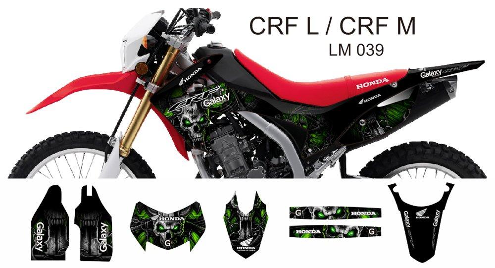 HONDA CRF L CRF M 2013-2014 GRAPHIC DECAL KIT CODE.LM 039