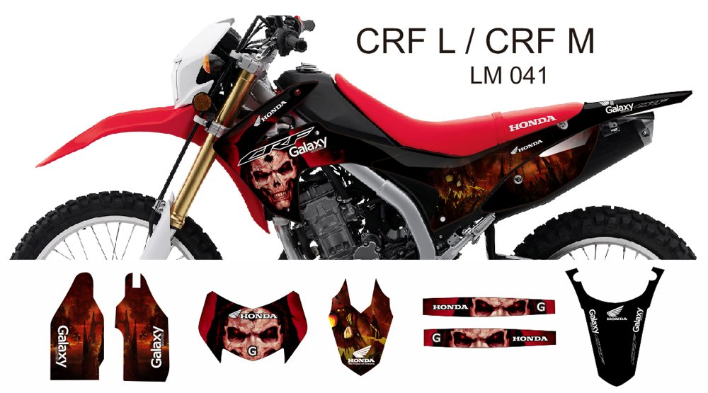 HONDA CRF L CRF M 2013-2014 GRAPHIC DECAL KIT CODE.LM 041