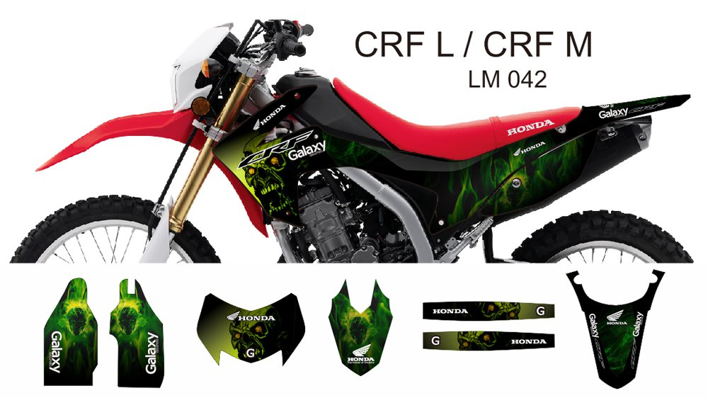 HONDA CRF L CRF M 2013-2014 GRAPHIC DECAL KIT CODE.LM 042