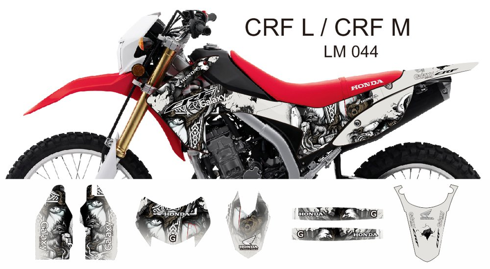 HONDA CRF L CRF M 2013-2014 GRAPHIC DECAL KIT CODE.LM 044