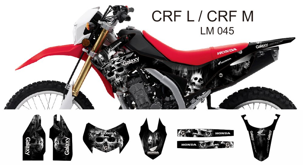 HONDA CRF L CRF M 2013-2014 GRAPHIC DECAL KIT CODE.LM 045