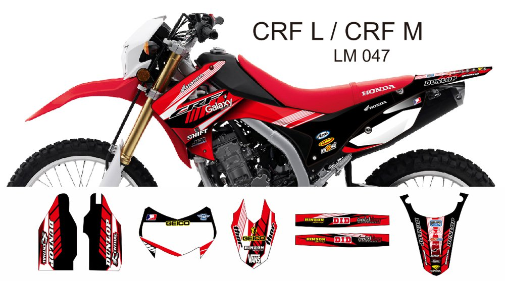 HONDA CRF L CRF M 2013-2014 GRAPHIC DECAL KIT CODE.LM 047
