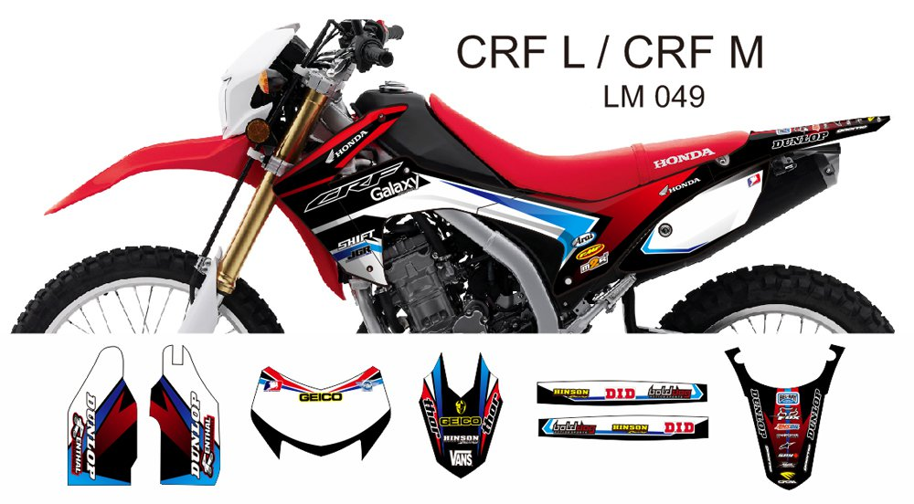 HONDA CRF L CRF M 2013-2014 GRAPHIC DECAL KIT CODE.LM 049