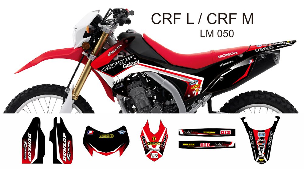 HONDA CRF L CRF M 2013-2014 GRAPHIC DECAL KIT CODE.LM 050