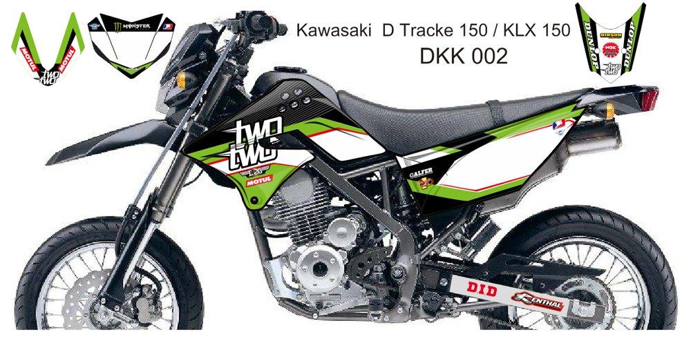 KAWASAKI D TRACKER 150 / KLX 150 GRAPHIC DECAL KIT CODE.DKK 002