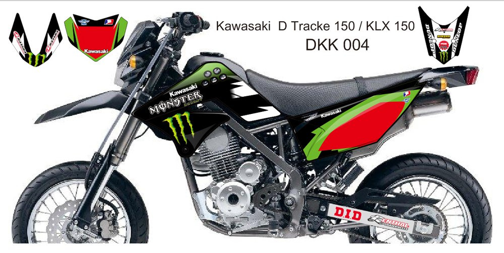 KAWASAKI D TRACKER 150 / KLX 150 GRAPHIC DECAL KIT CODE.DKK 004