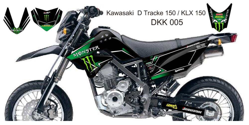 KAWASAKI D TRACKER 150 / KLX 150 GRAPHIC DECAL KIT CODE.DKK 005