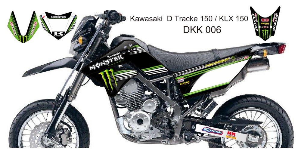 KAWASAKI D TRACKER 150 / KLX 150 GRAPHIC DECAL KIT CODE.DKK 006