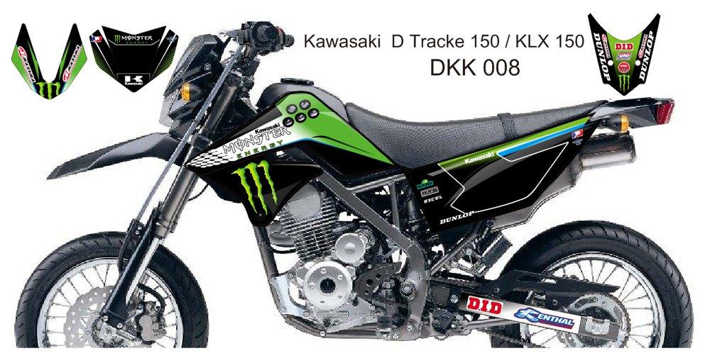 KAWASAKI D TRACKER 150 / KLX 150 GRAPHIC DECAL KIT CODE.DKK 008