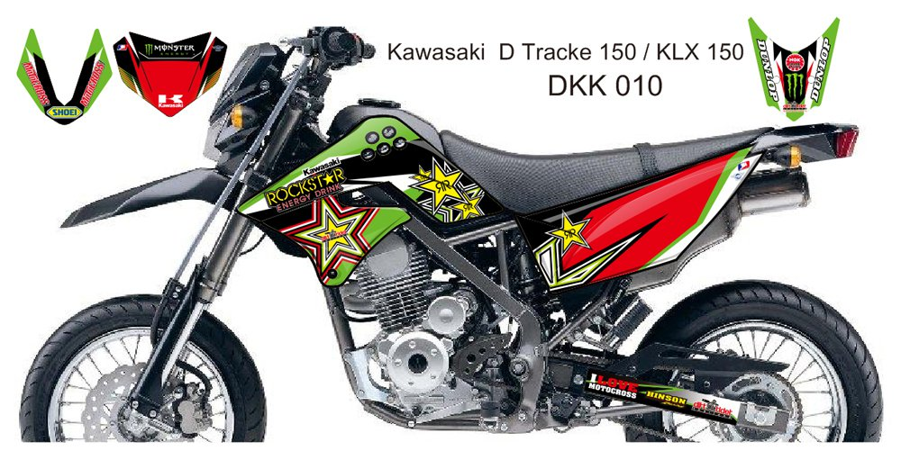 KAWASAKI D TRACKER 150 / KLX 150 GRAPHIC DECAL KIT CODE.DKK 010