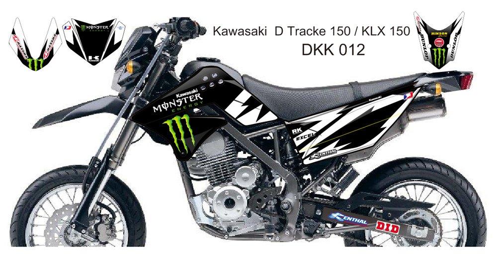 KAWASAKI D TRACKER 150 / KLX 150 GRAPHIC DECAL KIT CODE.DKK 012