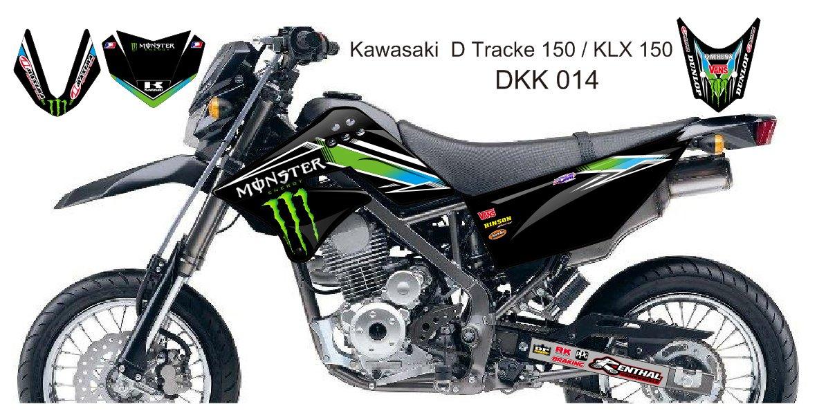 KAWASAKI D TRACKER 150 / KLX 150 GRAPHIC DECAL KIT CODE.DKK 014
