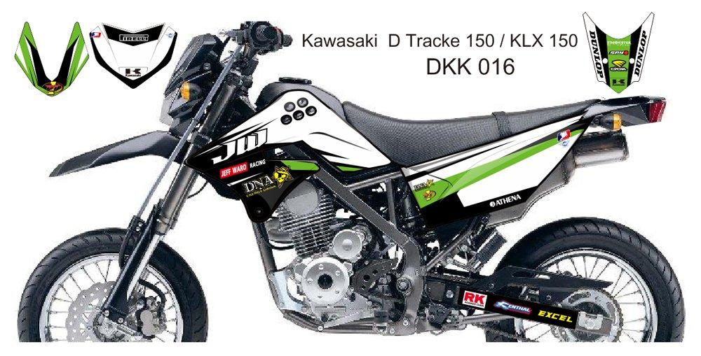 KAWASAKI D TRACKER 150 / KLX 150 GRAPHIC DECAL KIT CODE.DKK 016