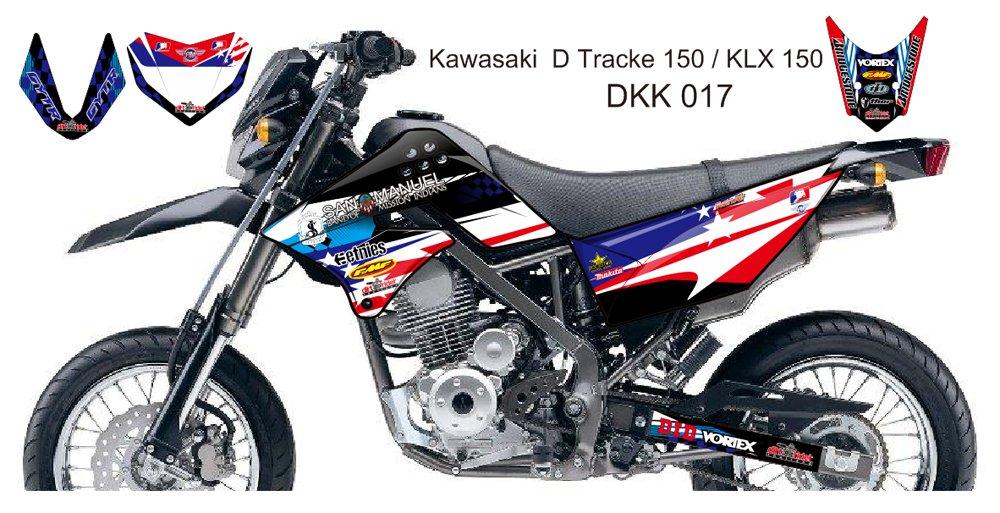 KAWASAKI D TRACKER 150 / KLX 150 GRAPHIC DECAL KIT CODE.DKK 017