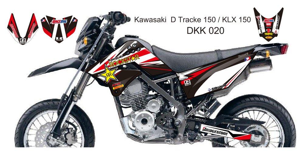 KAWASAKI D TRACKER 150 / KLX 150 GRAPHIC DECAL KIT CODE.DKK 020