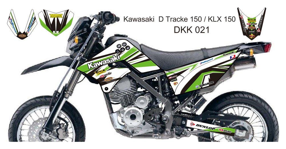 KAWASAKI D TRACKER 150 / KLX 150 GRAPHIC DECAL KIT CODE.DKK 021
