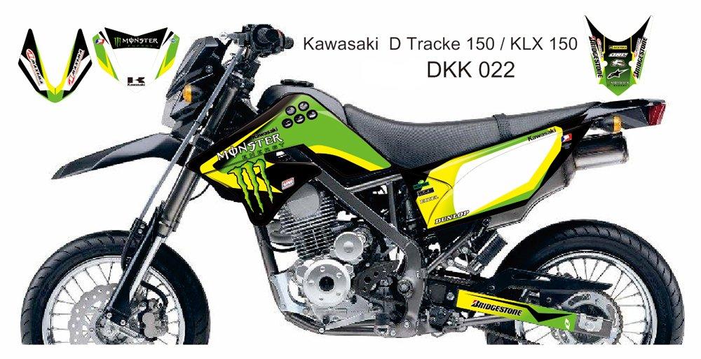 KAWASAKI D TRACKER 150 / KLX 150 GRAPHIC DECAL KIT CODE.DKK 022