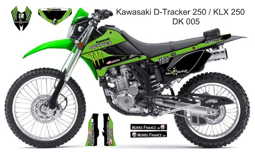 KAWASAKI D TRACKER 250 / KLX 250 GRAPHIC DECAL KIT CODE.DK 005