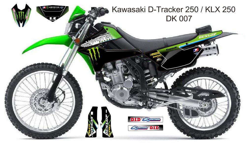KAWASAKI D TRACKER 250 / KLX 250 GRAPHIC DECAL KIT CODE.DK 007