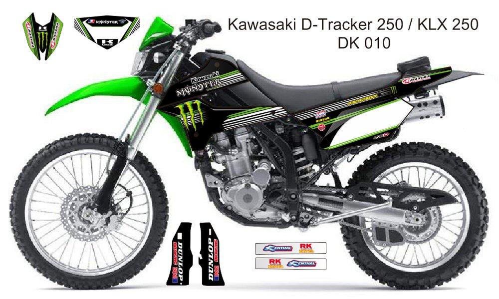 KAWASAKI D TRACKER 250 / KLX 250 GRAPHIC DECAL KIT CODE.DK 010