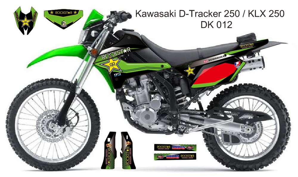 KAWASAKI D TRACKER 250 / KLX 250 GRAPHIC DECAL KIT CODE.DK 012