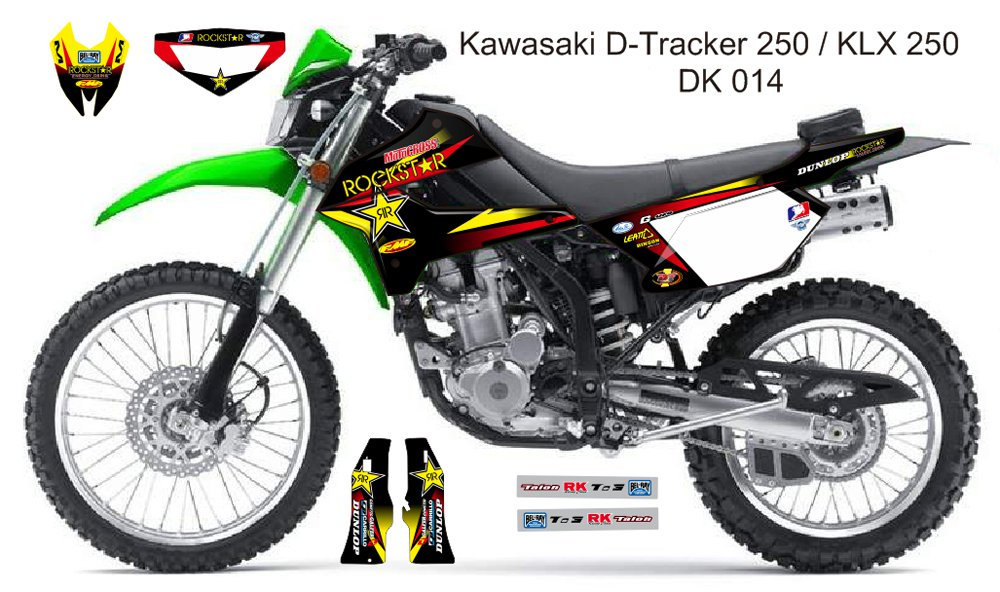 KAWASAKI D TRACKER 250 / KLX 250 GRAPHIC DECAL KIT CODE.DK 014