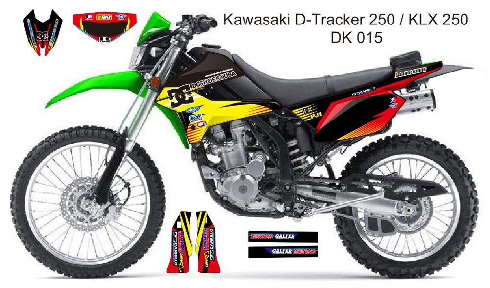 KAWASAKI D TRACKER 250 / KLX 250 GRAPHIC DECAL KIT CODE.DK 015