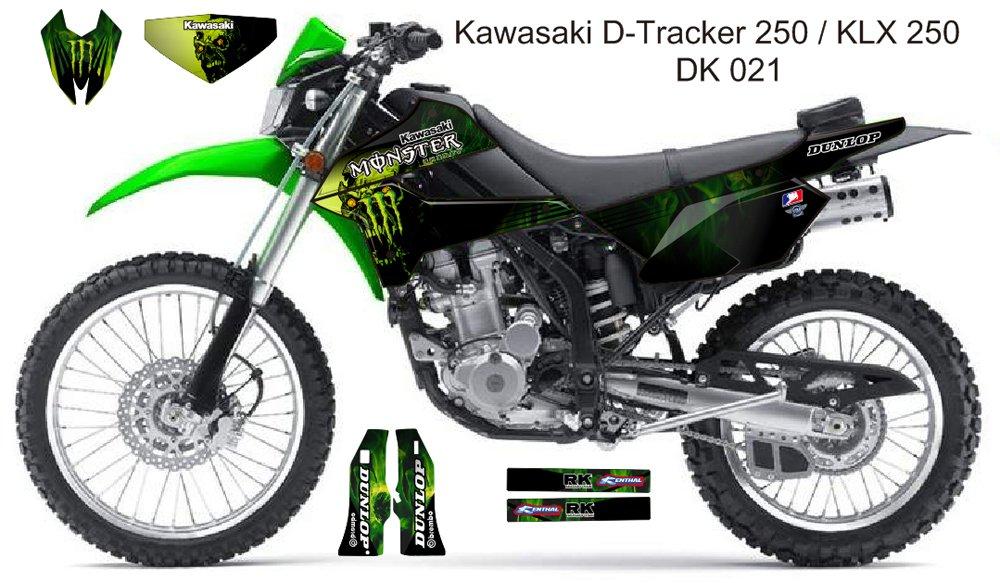 KAWASAKI D TRACKER 250 / KLX 250 GRAPHIC DECAL KIT CODE.DK 021