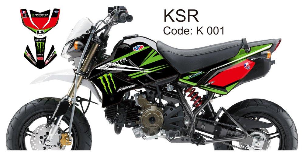 KAWASAKI KSR 2012-2014 GRAPHIC DECAL KIT CODE.K 001