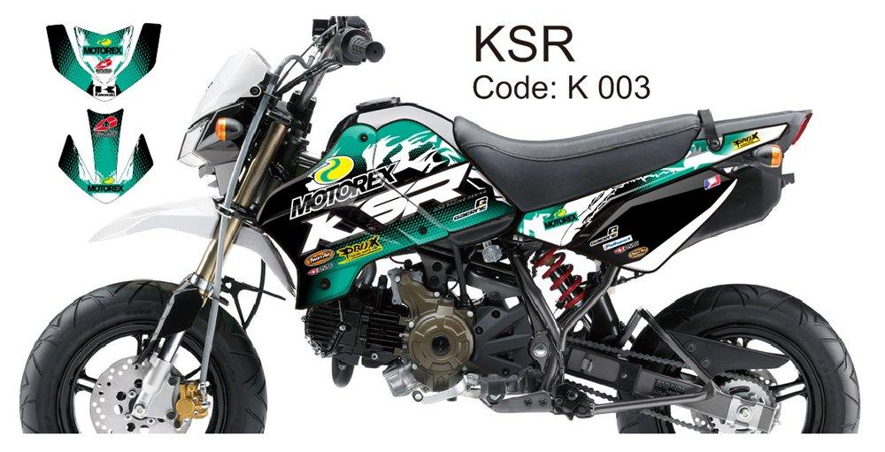 KAWASAKI KSR 2012-2014 GRAPHIC DECAL KIT CODE.K 003