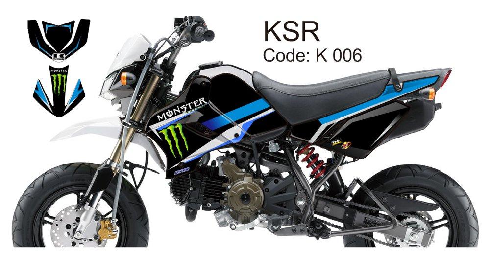 KAWASAKI KSR 2012-2014 GRAPHIC DECAL KIT CODE.K 006