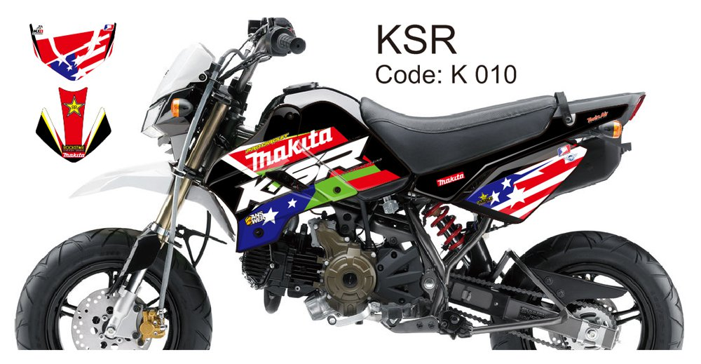 KAWASAKI KSR 2012-2014 GRAPHIC DECAL KIT CODE.K 010
