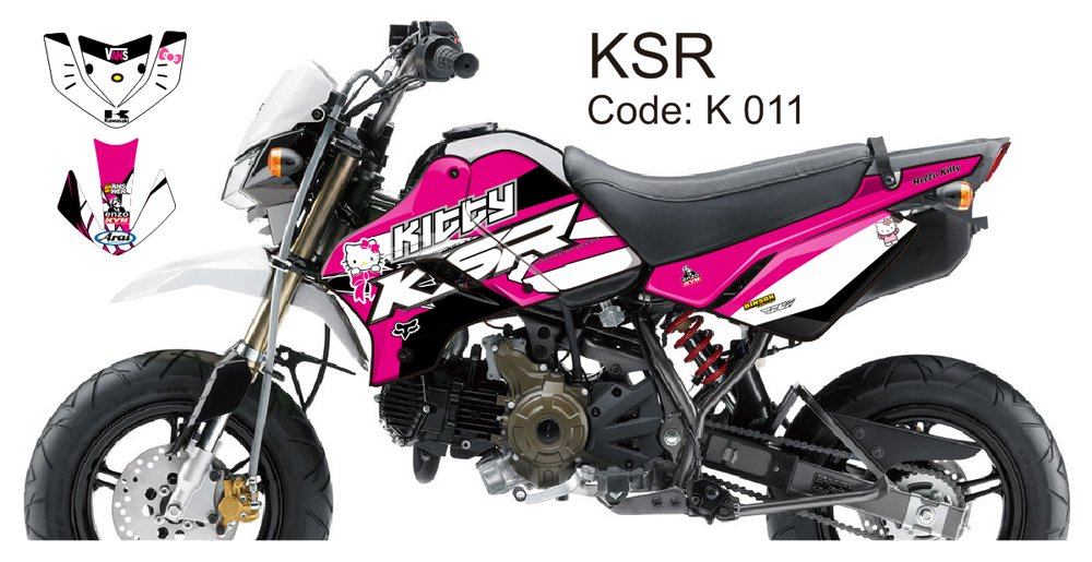 KAWASAKI KSR 2012-2014 GRAPHIC DECAL KIT CODE.K 011