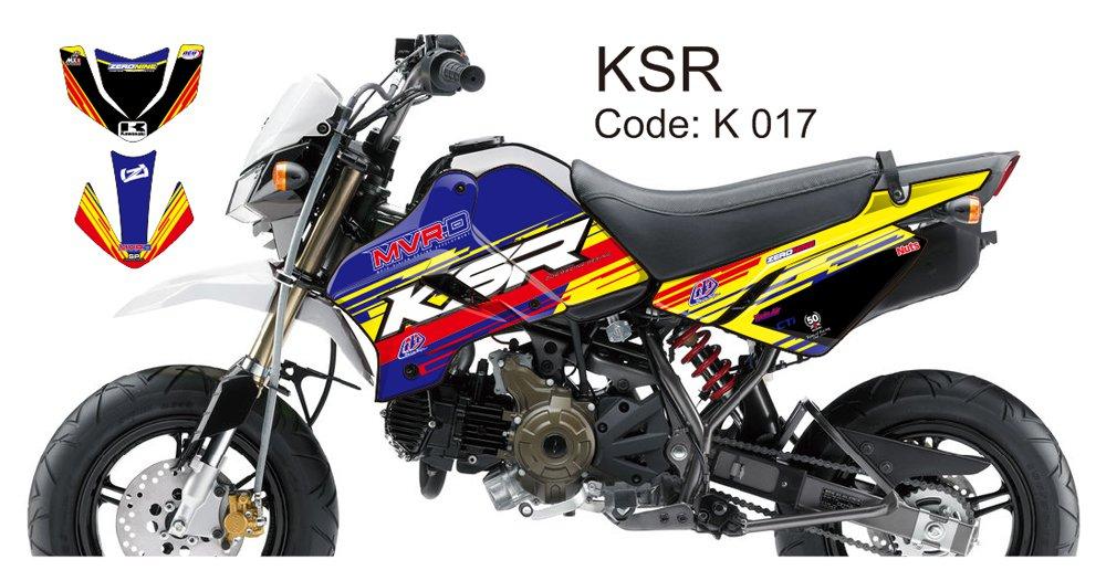KAWASAKI KSR 2012-2014 GRAPHIC DECAL KIT CODE.K 017