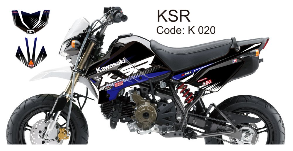 KAWASAKI KSR 2012-2014 GRAPHIC DECAL KIT CODE.K 020