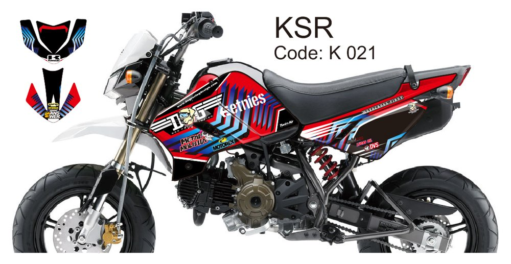 KAWASAKI KSR 2012-2014 GRAPHIC DECAL KIT CODE.K 021