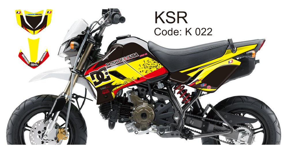 KAWASAKI KSR 2012-2014 GRAPHIC DECAL KIT CODE.K 022