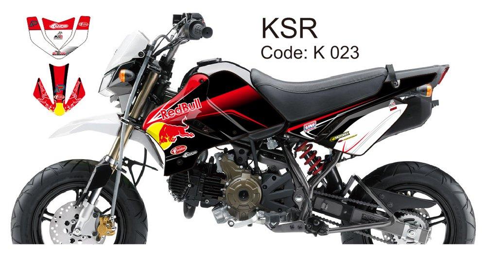 KAWASAKI KSR 2012-2014 GRAPHIC DECAL KIT CODE.K 023