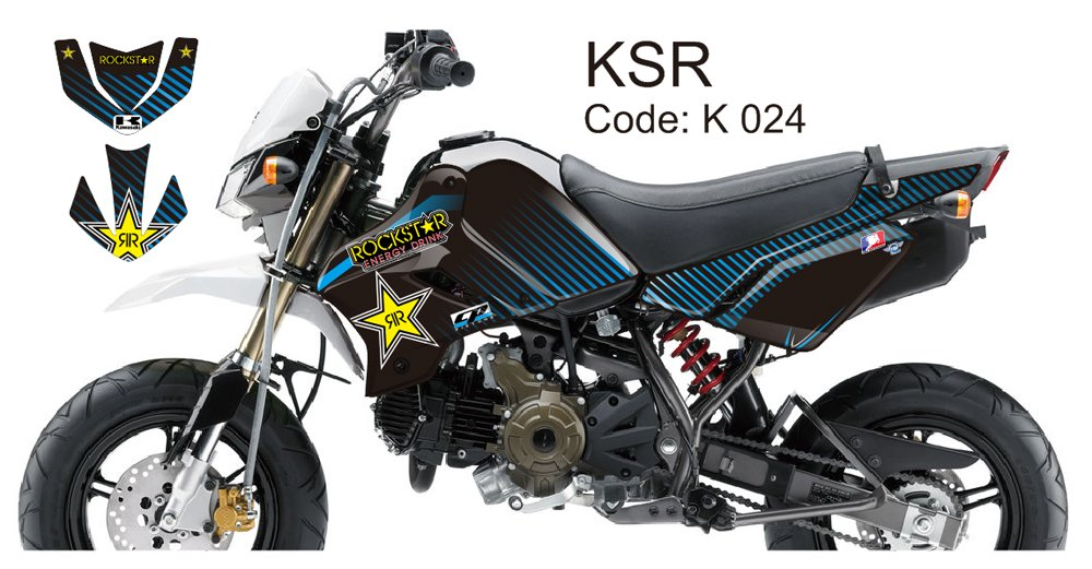 KAWASAKI KSR 2012-2014 GRAPHIC DECAL KIT CODE.K 024