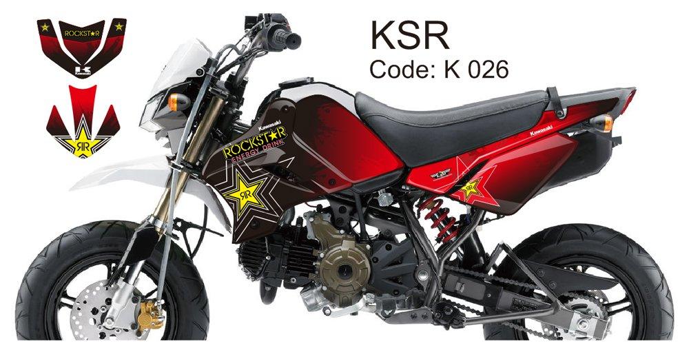 KAWASAKI KSR 2012-2014 GRAPHIC DECAL KIT CODE.K 026