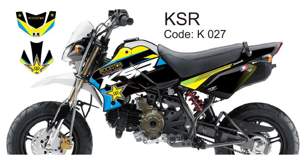 KAWASAKI KSR 2012-2014 GRAPHIC DECAL KIT CODE.K 027