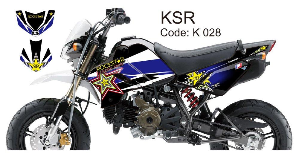 KAWASAKI KSR 2012-2014 GRAPHIC DECAL KIT CODE.K 028