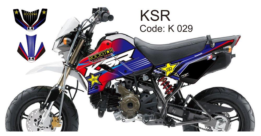 KAWASAKI KSR 2012-2014 GRAPHIC DECAL KIT CODE.K 029