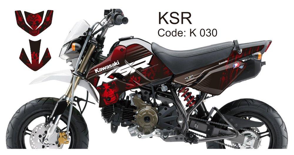 KAWASAKI KSR 2012-2014 GRAPHIC DECAL KIT CODE.K 030