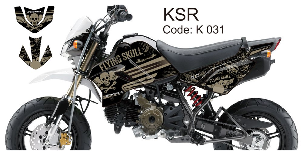 KAWASAKI KSR 2012-2014 GRAPHIC DECAL KIT CODE.K 031